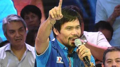 """Manny Pacquiao saca su vena homofóbica: """"Un gay  es peor que un animal"""""""