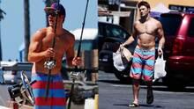 Scott Eastwood hace las compras sin camisa