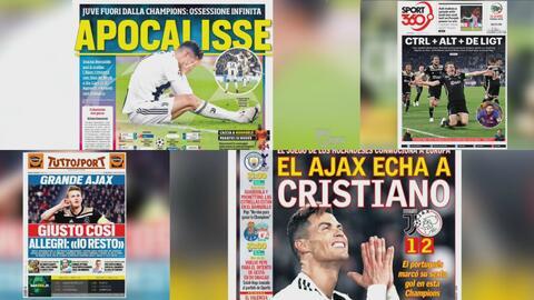 Las portadas destrozaron a la Juventus de Cristiano Ronaldo por el fracaso en la Champions