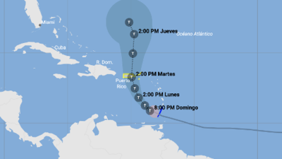 En vivo: Trayectoria actualizada de la tormenta tropical Karen