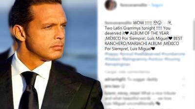 Luis Miguel recibe una felicitación muy especial por su triunfo en Latin GRAMMY 2018