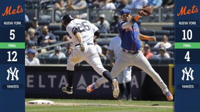 Mets y Yankees dividen triunfos en doble cartelera de la 'Subway Series'