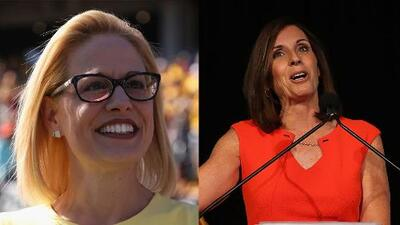 Con una ventaja menor a un punto porcentual, continúa en suspenso la contienda por el senado en Arizona entre McSally y Sinema