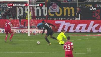 Gol que mata: Sébastien Haller sentencia la victoria del Frankfurt sobre el Düsseldorf
