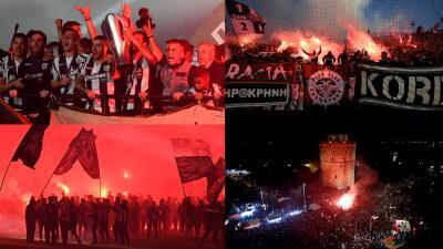 Fiesta al rojo vivo en Grecia por el título del PAOK Salónica después de 34 años