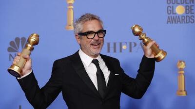 """El director Alfonso Cuarón hace historia en los Golden Globes, con su película """"Roma"""""""