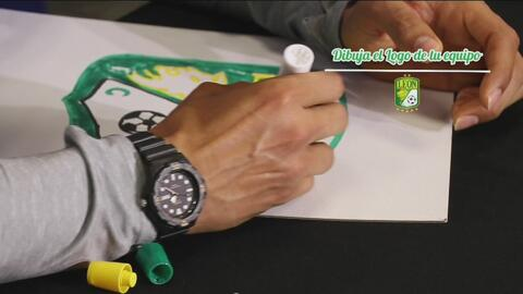 Cuéntamelo: cinco jugadores de la Liga MX compitieron por quién dibujaba mejor el escudo de su equipo