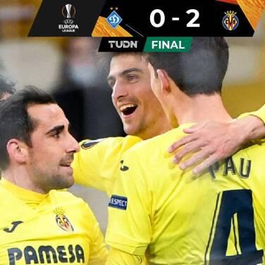 Gran ventaja... Villarreal pone un pie en Cuartos de Final ante Dynamo Kiev