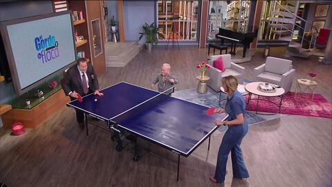 ¿Quién lo creyera?: Lili, Raúl y Carlitos 'el productor' tienen dotes para jugar ping pong y tienes que verlos