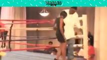 La peor caída de en el ring y sin ser boxeador
