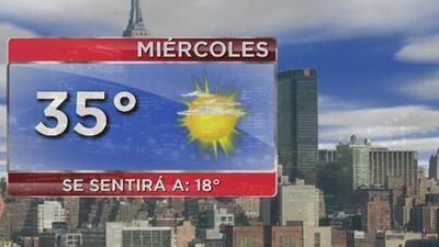 Miércoles frío y con cielo mayormente despejado en Nueva York