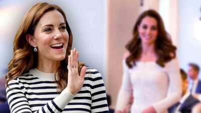 El extraño vestido de Kate Middleton que causa confusión: ¿se lo puso al revés o no?