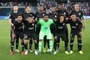 Soccer Football - Club World Cup - Final - Real Madrid v Al Ain - Zayed Sports City Stadium, Abu Dhabi, United Arab Emirates - December 22, 2018 Al-Ain players pose for a team group photo before the match REUTERS/Suhaib Salem