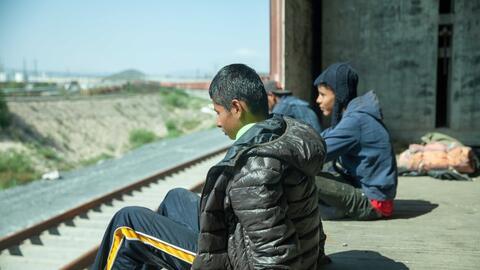 Dos niños vivieron una peligrosa travesía