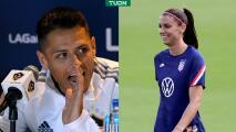 """Alex Morgan: """"Chicharito trae mucho reconocimiento a la MLS"""""""