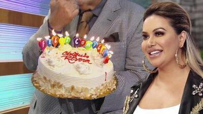 En El Gordo y La Flaca festejamos el cumpleaños de Chiquis Rivera con un pastel (y ella lo 'recibió')