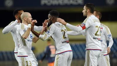 Lyon derrota al Montpellier con doblete de Maxwell Cornet en la Ligue 1