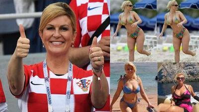 La presidenta de Croacia, que alienta a su selección, es 'confundida' con esposa de rapero