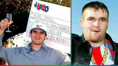 Ganó la lotería a los 19 años y se gastó todo el dinero en orgías