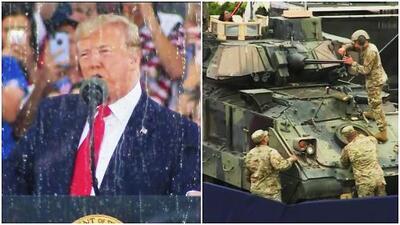 Entre seguidores y opositores Trump ofreció un discurso poco habitual en el 4 de julio