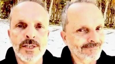 Miguel Bosé responde desde la playa a quienes especulan sobre su estado de salud