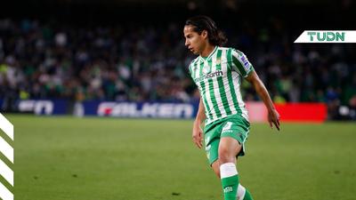 Diego Lainez volvió a la actividad con el Betis