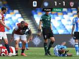 Con Hirving Lozano, Napoli iguala ante Cagliari y pone en riesgo boleto a Champions