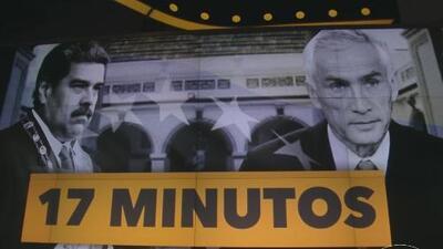 Recrean los 17 minutos del encuentro entre Maduro y Jorge Ramos este domingo en Crónicas