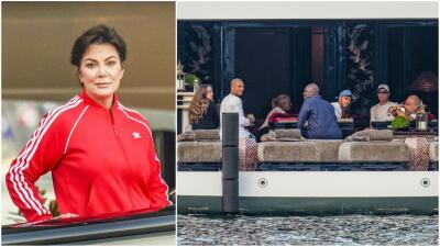 Kris Jenner se pasea con Chloe, la ex de Marc Anthony, en un yate de 130 millones de dólares