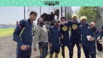 América posa con el águilas Celeste antes de partir a Tijuana
