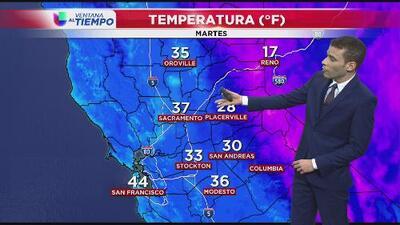 El frío continúa para el norte de California
