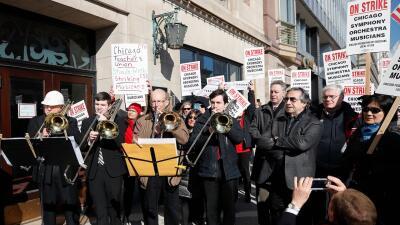 En fotos: Miembros de la Orquesta Sinfónica de Chicago en huelga tras 11 meses de negociaciones