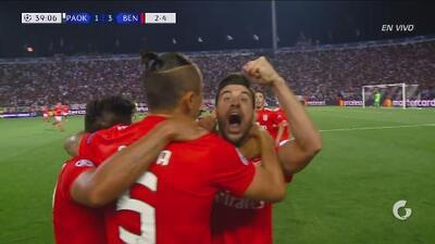 Despertó el Benfica: Franco Pizzi puso el 3-1 sobre el PAOK