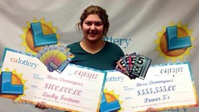 Joven hispana gana dos veces en una semana la Lotería de California y se lleva unos 650,000 dólares