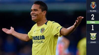 Sin Diego Reyes, el Leganés cayó ante un Villarreal que se aleja del descenso