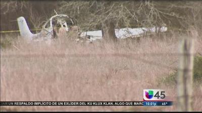 Dos adultos y dos niñas murieron en accidente aéreo cerca a Houston