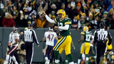 Packers 55-14 Bears: Aaron Rodgers y sus 6 TDs destrozaron a Chicago