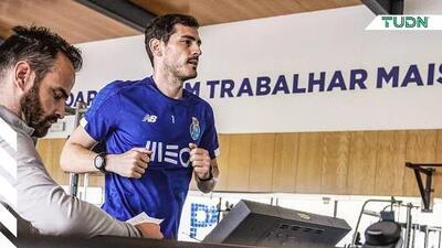 Casillas vuelve a entrenar seis meses después de su infarto