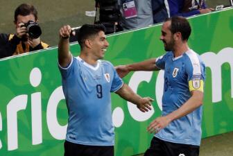 En fotos: Uruguay demuestra su poderío y golea a un indefenso Ecuador