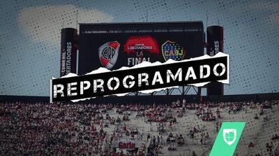 Conmebol reprograma la final de la Copa Libertadores entre River Plate y Boca Juniors