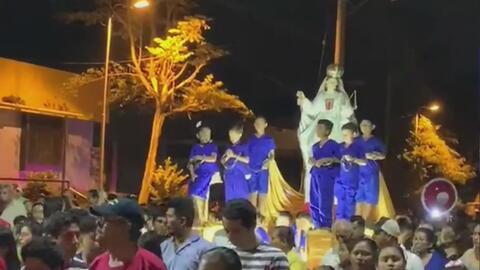 Con niños vestidos como presos políticos, una procesión de Semana Santa en Nicaragua se convierte en protesta