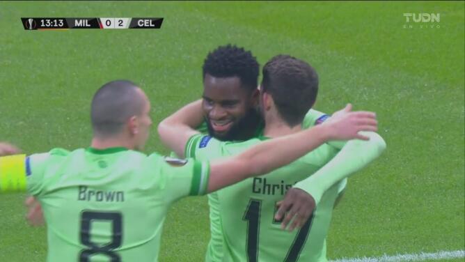 ¡Mano a mano y no perdona! Édouard define de lujo para el 0-2 del Celtic