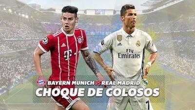 Bayern Munich vs. Real Madrid: choque de colosos