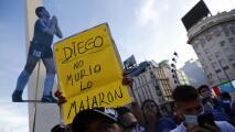 """Marcha por Diego Maradona: """"No murió, lo mataron"""""""
