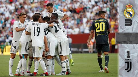 Con estos goles, Real Madrid venció a Juventus en amistoso