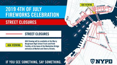 Estas son todas las calles que cerrarán para las festividades del 4 de julio en Nueva York