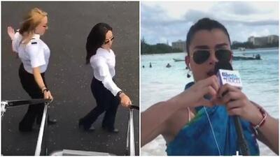 Una piloto realiza 'Kiki Challenge' con un avión e inspira a Clarissa para hacerlo desde las playas de Barbados