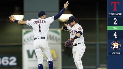 Reddick y Miley guían a Astros a triunfo sobre Rangers