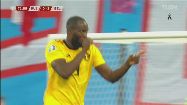 ¡Extraordinario gol de Bélgica! Lukaku consigue el 4-0 ante Rusia