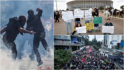 El Mundial 2014 y la Copa Confederaciones 2013 ya tuvieron que sobrevivir a las protestas en Brasil